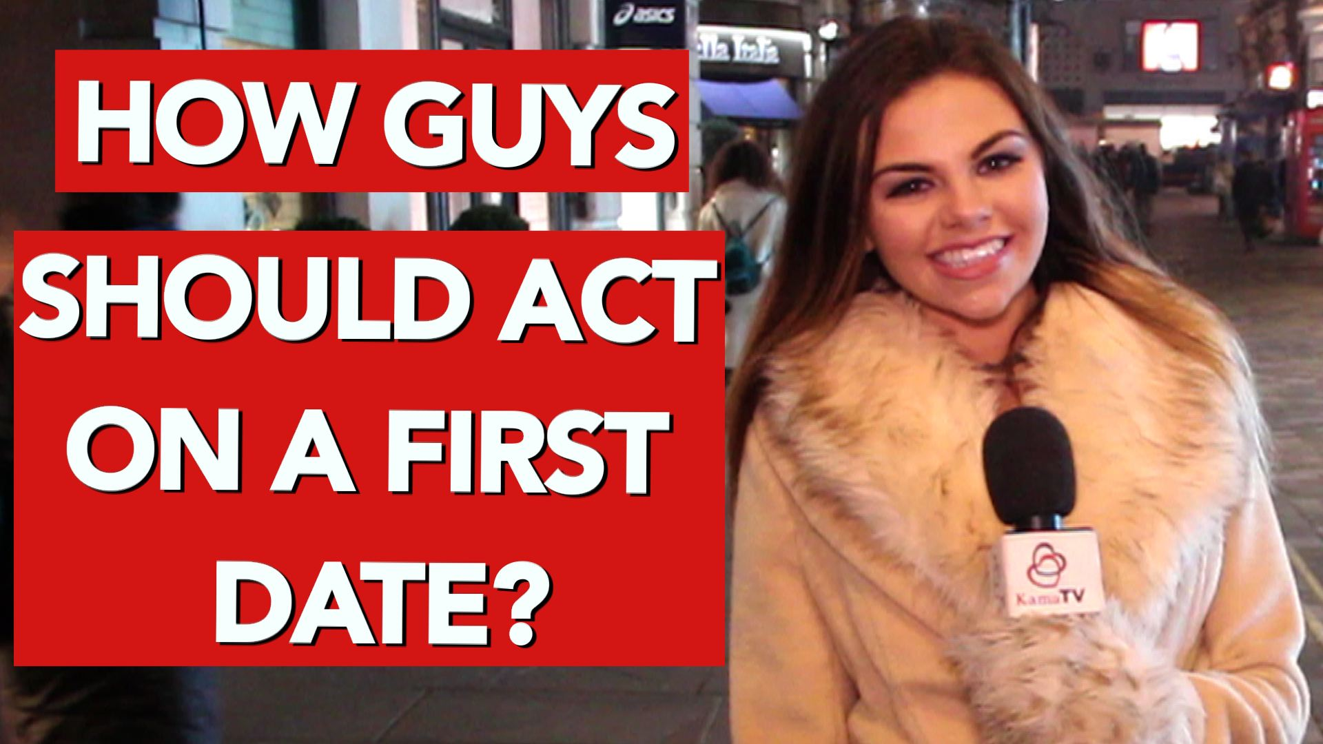 How should guys act on a first date