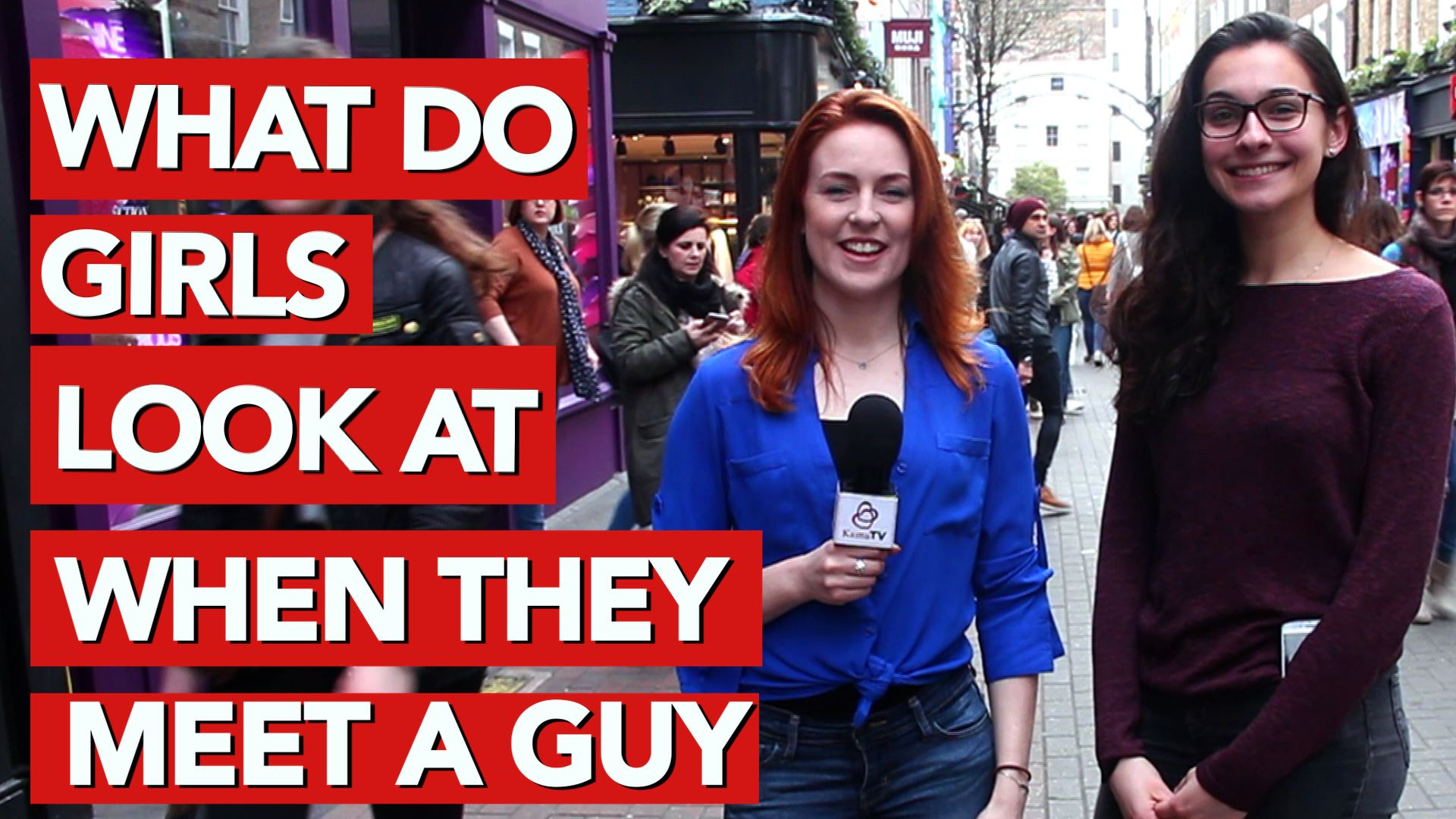 What do girls look at when they meet a guy
