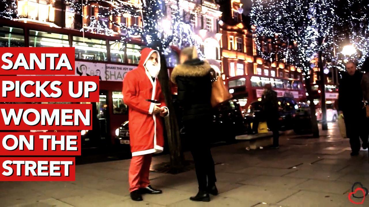 Santa picks up women on the street
